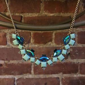 J.Crew Aqua & Mint Iridescent Statement necklace!